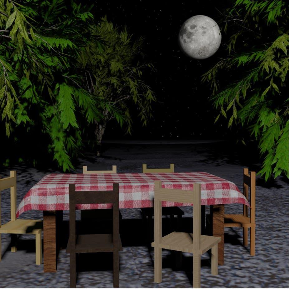 IL tavolino fotorealistico di Andrei