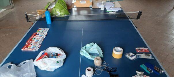 Materiale preparazione astronave al MakerCamp