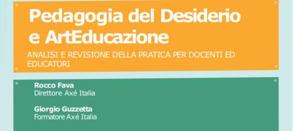Locandina del corso Pedagogia del Desiderio e ArtEducazione dal 24 al 26 settembre